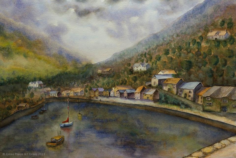 Lynmouth_Harbour_Watercolour